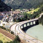 The bridge - Bridge crossing the artificial Fortezza lake